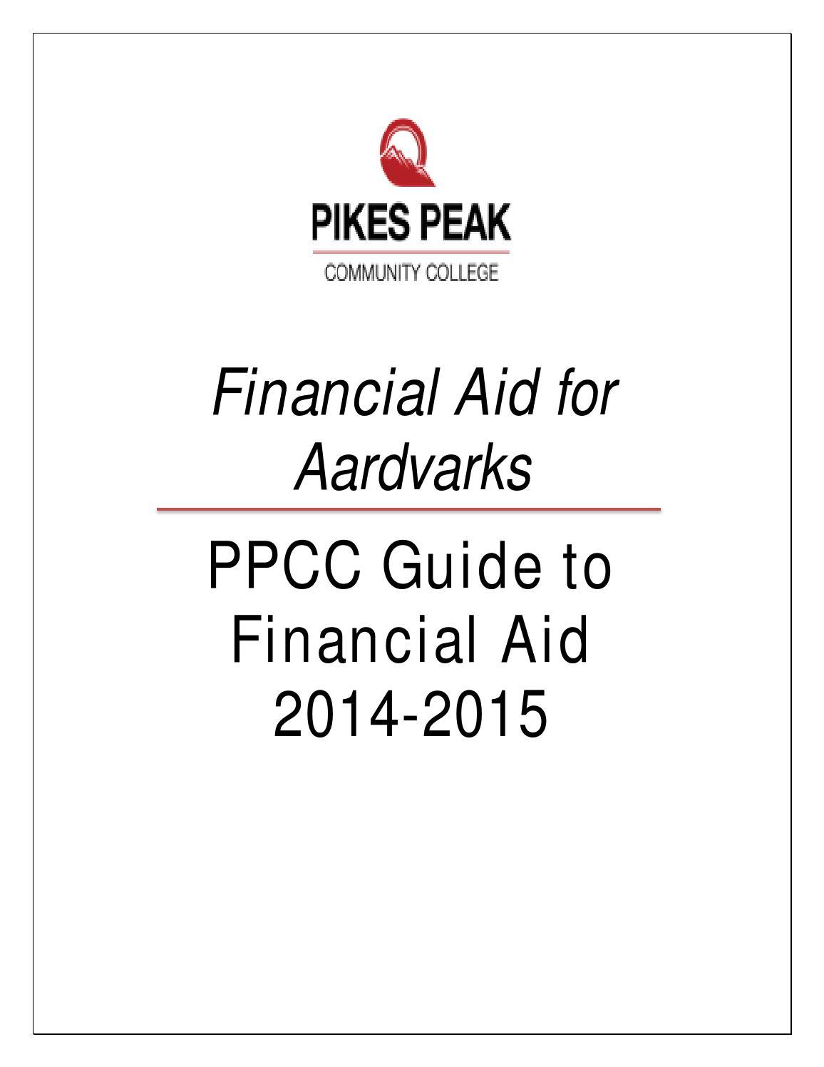 2014-2015 Financial Aid Handbook by Pikes Peak Community