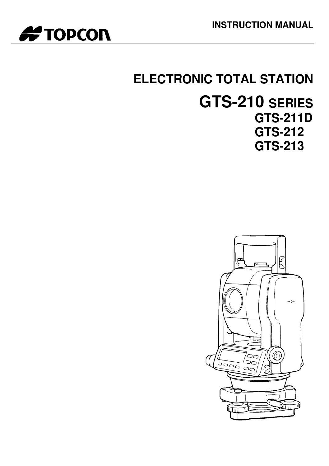 Topcon gts 210 english manual by Land Surveyors United