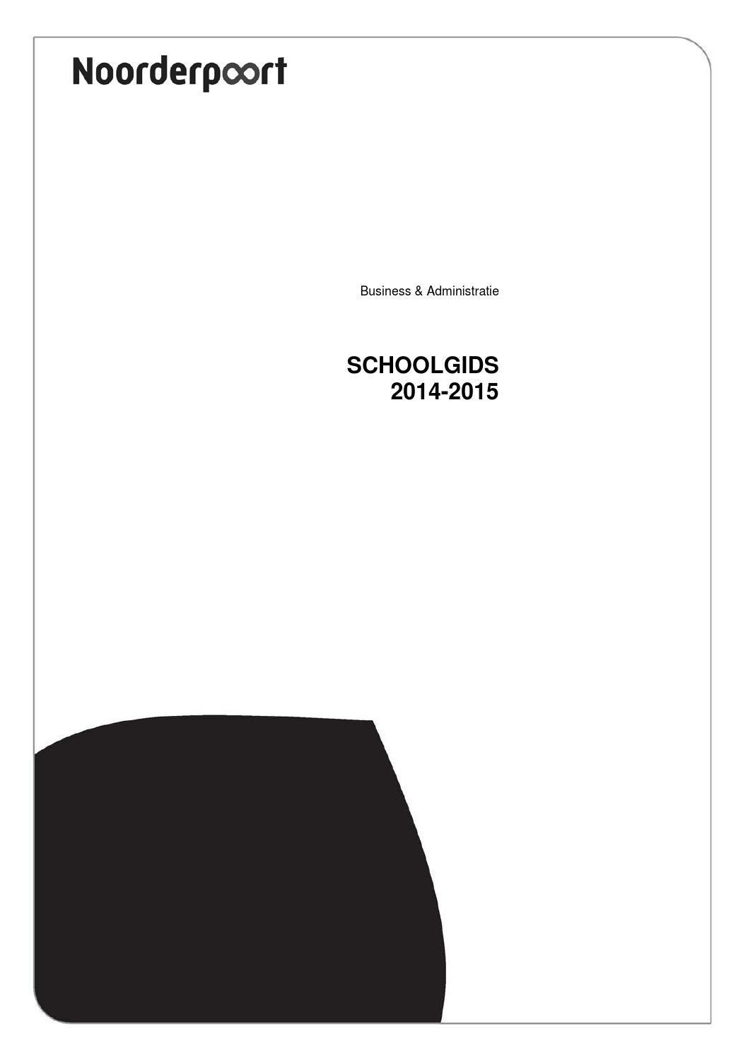 Schoolgids business & administratie 2014-2015 by