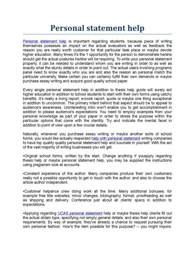 Personal statement help by HelpWithResume - issuu