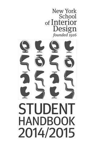 Student Handbook 2014/2015 by New York School of Interior