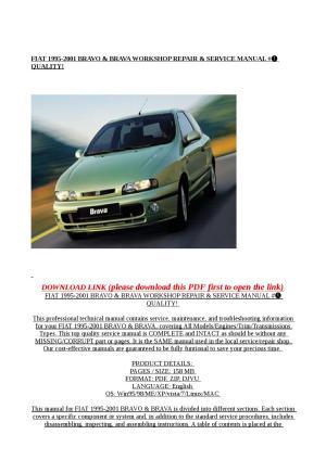 Fiat 1995 2001 bravo & brava workshop repair & service manual # quality! by Mary Jane  Issuu