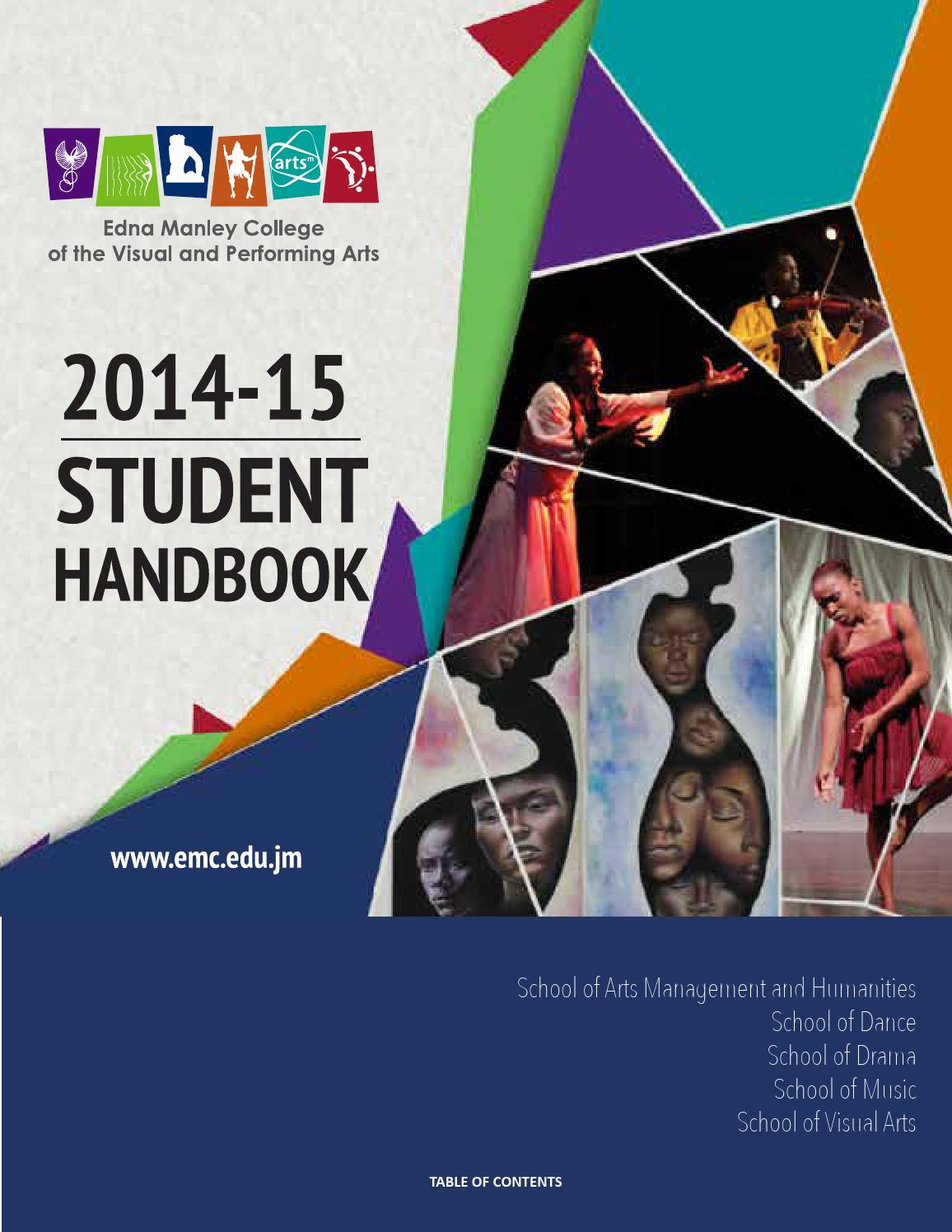 Student Handbook Edna Manley College Of The Visual And