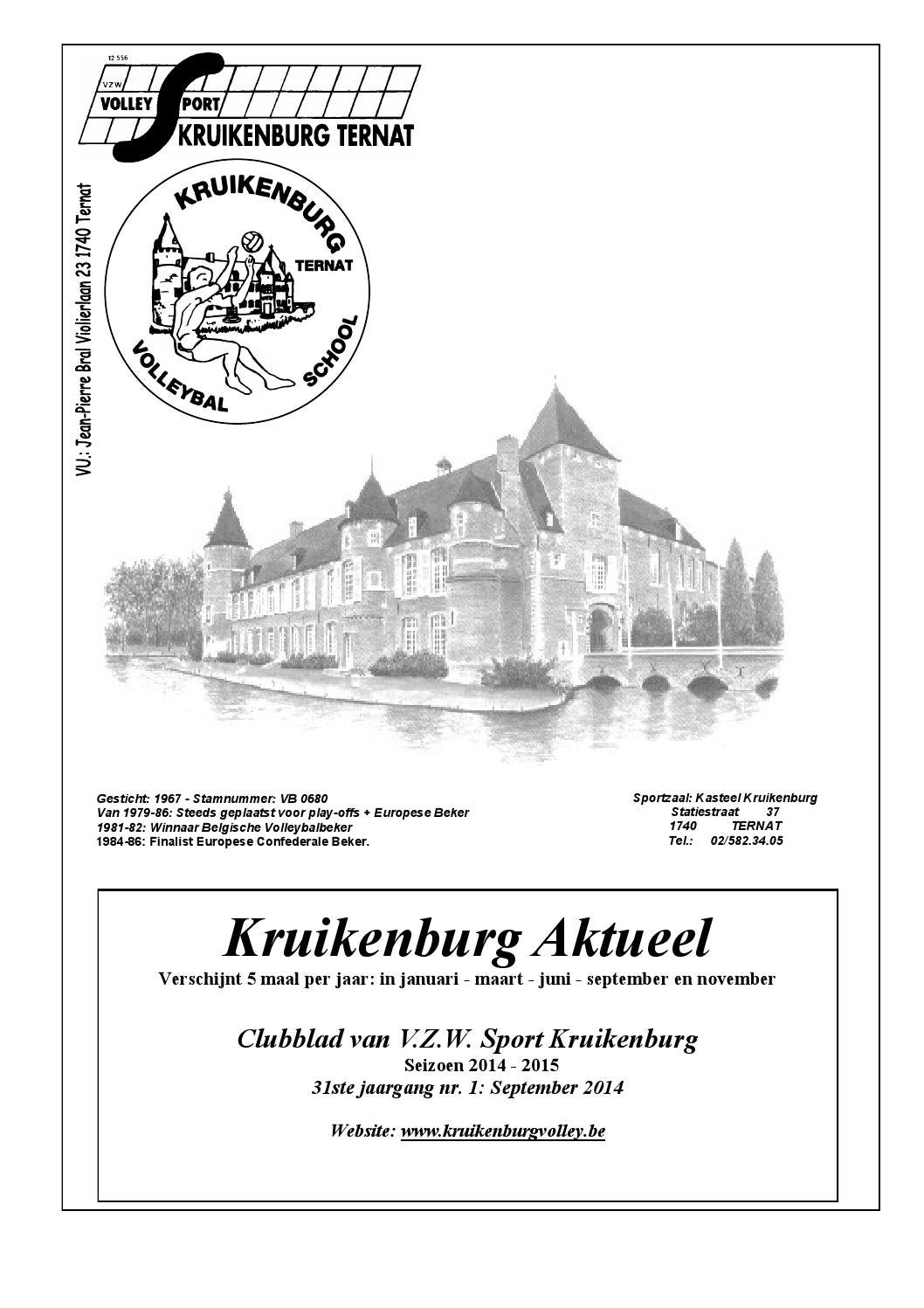 Kruikenburg aktueel September 2014 by Kruikenburg Volley