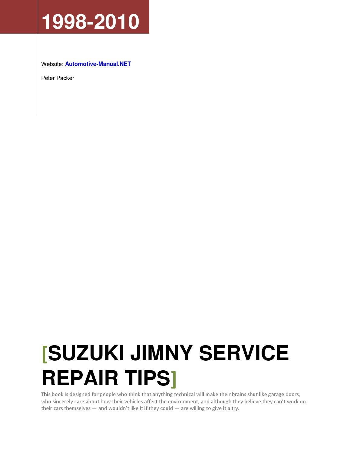 Suzuki Jimny 1998-2010 Service Repair Tips by Armando