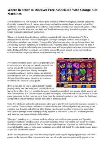 casino wi Slot Machine
