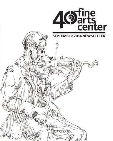 Fine Arts Center Newsletter, September 2014 by FAC