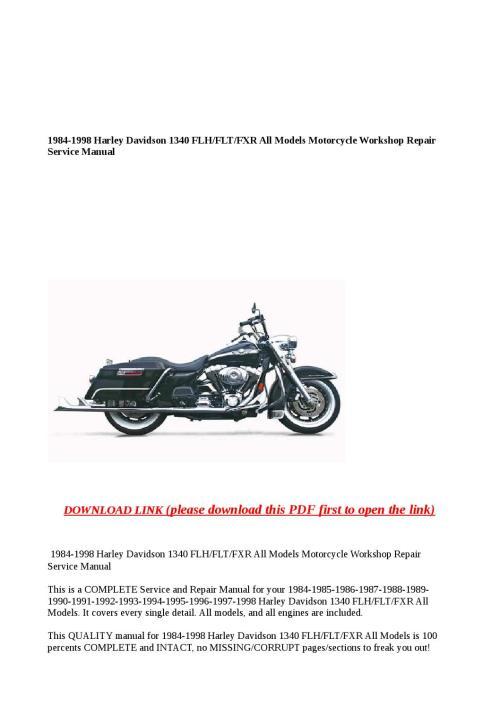 small resolution of 1984 1998 harley davidson 1340 flh flt fxr all models motorcycle rh issuu com 1987 harley flh wiring diagram