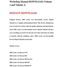 2005 arctic cat snowmobile service repair workshop manual download volume 1 and volume 2  [ 1058 x 1497 Pixel ]