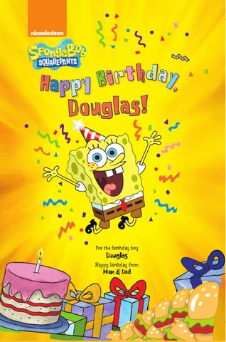 Put Me In The Story Happy Birthday SpongeBob