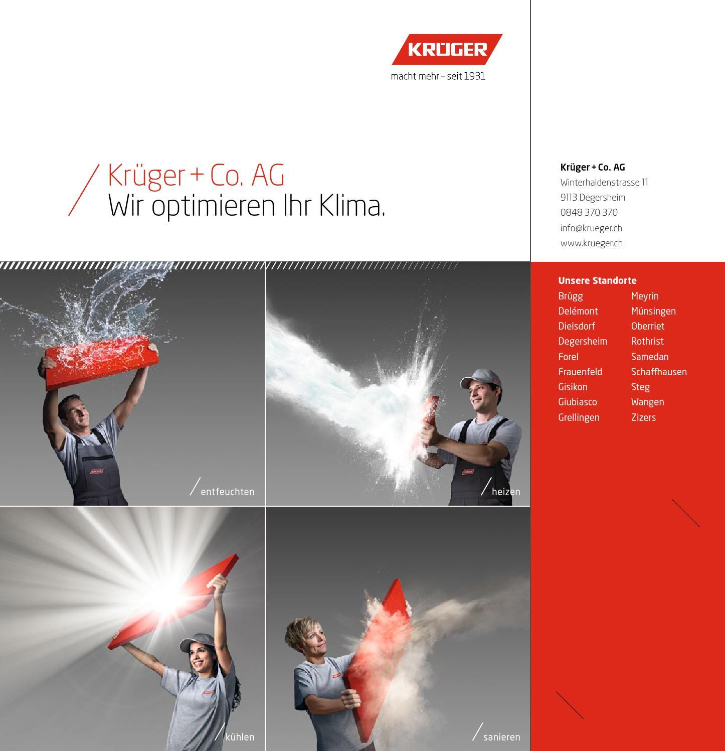 Krüger Gesamtbroschüre De By Krueger.Ch - Issuu