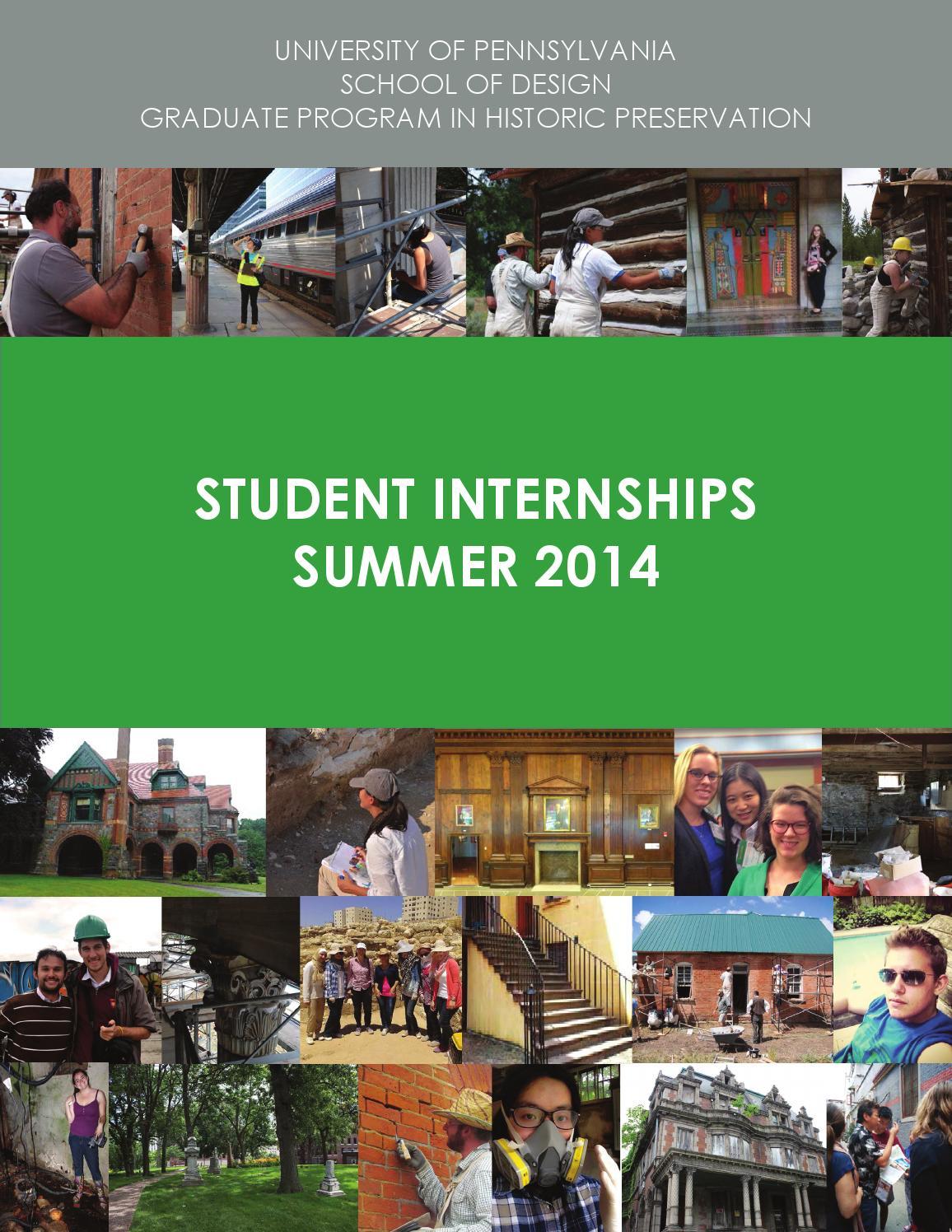 Penndesign Historic Preservation 2014 Student Summer Internships By Amanda  Bloomfield - Issuu