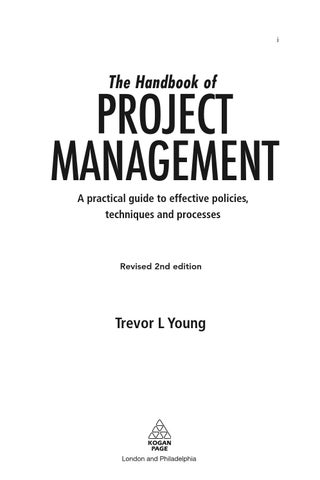 The handbook of project management a practical guide to