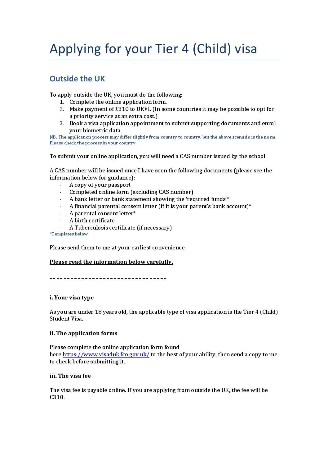 Visa guidance applying outside the uk child by fabio