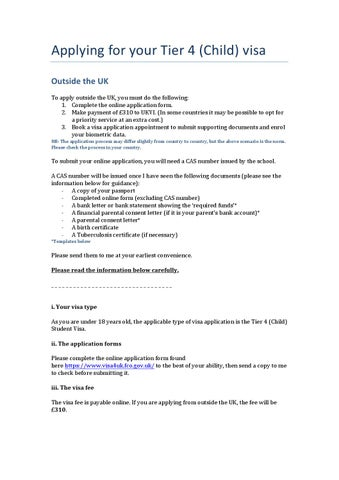 Visa Guidance Applying Outside The Uk Child By Fabio