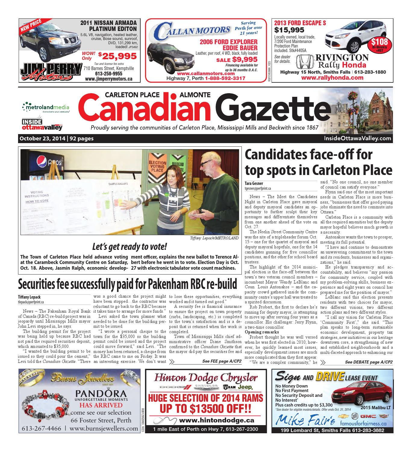 Almontecarletonplace102314 By Metroland East Almonte Carleton Place Canadian Gazette Issuu