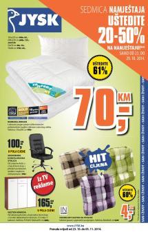 Jysk Bih Katalog Akcija Od 23 10 - 05 11 2014 Catalog