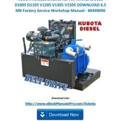 Kubota D1105 Alternator Wiring Diagram Tennis Court With Measurements Pdf 2262 Diesel Engine 905 Manualkubota