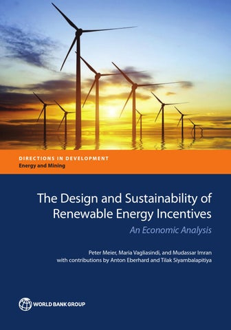 The Design and Sustainability of Renewable Energy Incentives by World Bank Publications  Issuu