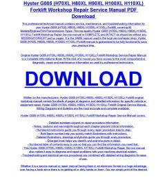 hyster g005 h70xl h80xl h90xl h100xl h110xl forklift service repair workshop manual download by diaz rondon issuu [ 1156 x 1496 Pixel ]