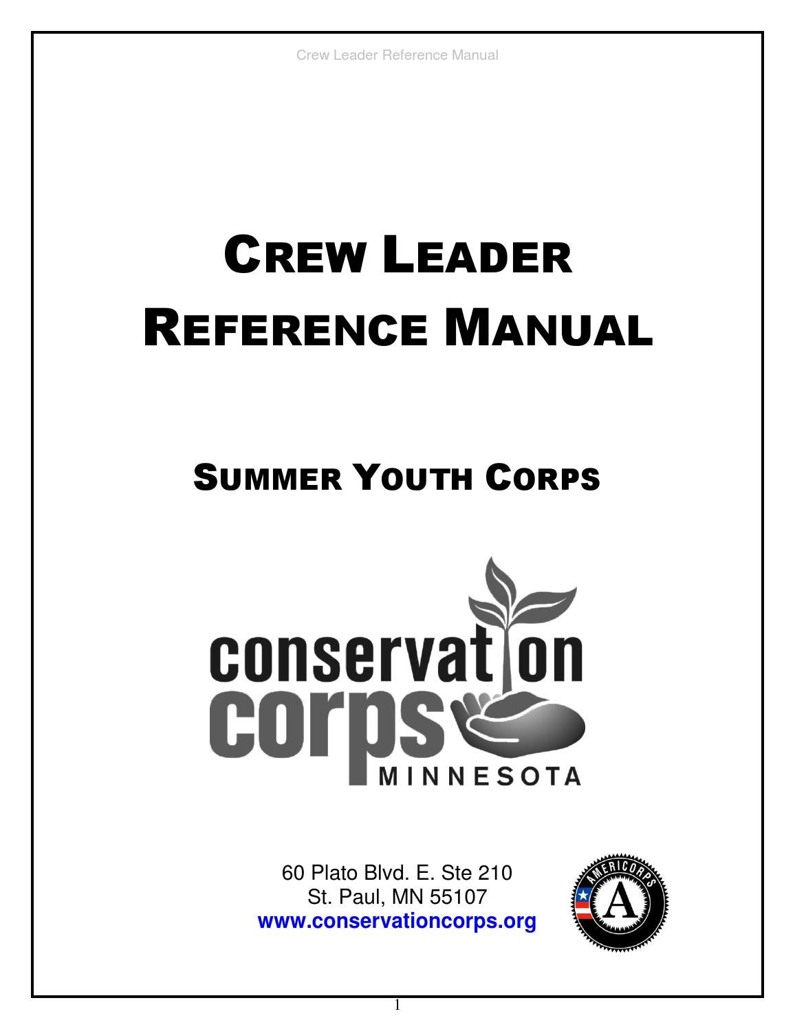 Crew leader reference manual 2015 online draft by Connie
