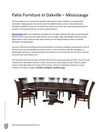 Patio furniture in oakville by Destination Furniture - issuu