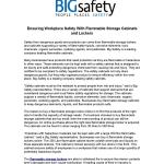 Ensuring Workplace Safety With Flammable Storage Cabinets