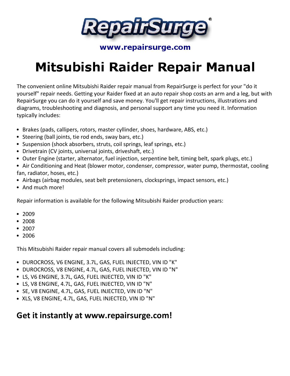 hight resolution of mitsubishi raider engine diagram