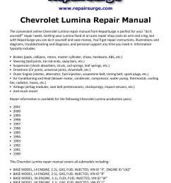chevrolet lumina repair manual 1990 2001 [ 1156 x 1496 Pixel ]