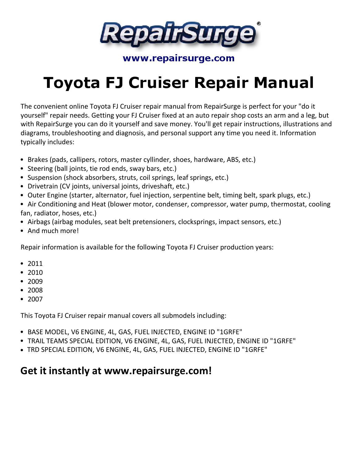 hight resolution of fj cruiser repair manual 2007