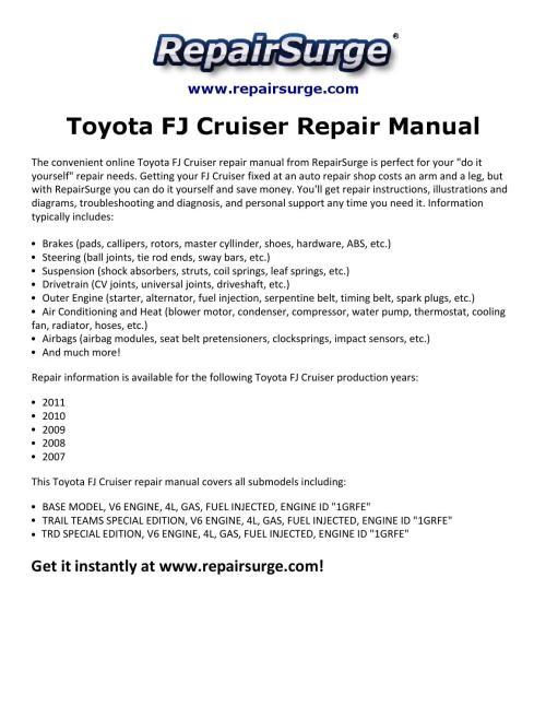 small resolution of 2011 toyotum fj cruiser engine diagram