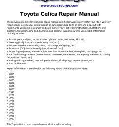 toyota celica repair manual 1990 2005 [ 1156 x 1496 Pixel ]