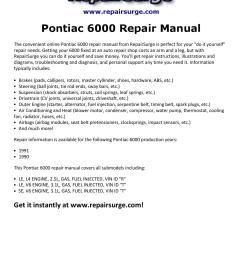 pontiac 6000 repair manual 1990 1991 [ 1156 x 1496 Pixel ]