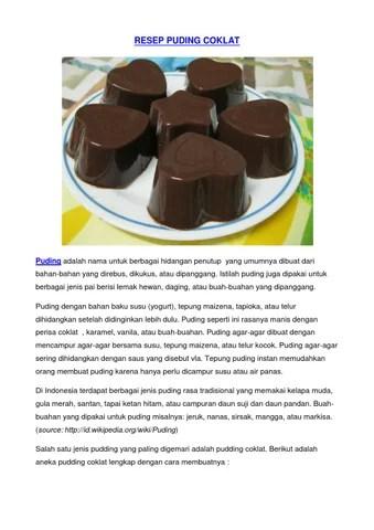 Cara Bikin Puding Buah : bikin, puding, Resep, Puding, Vanila, Karamel, Coklat