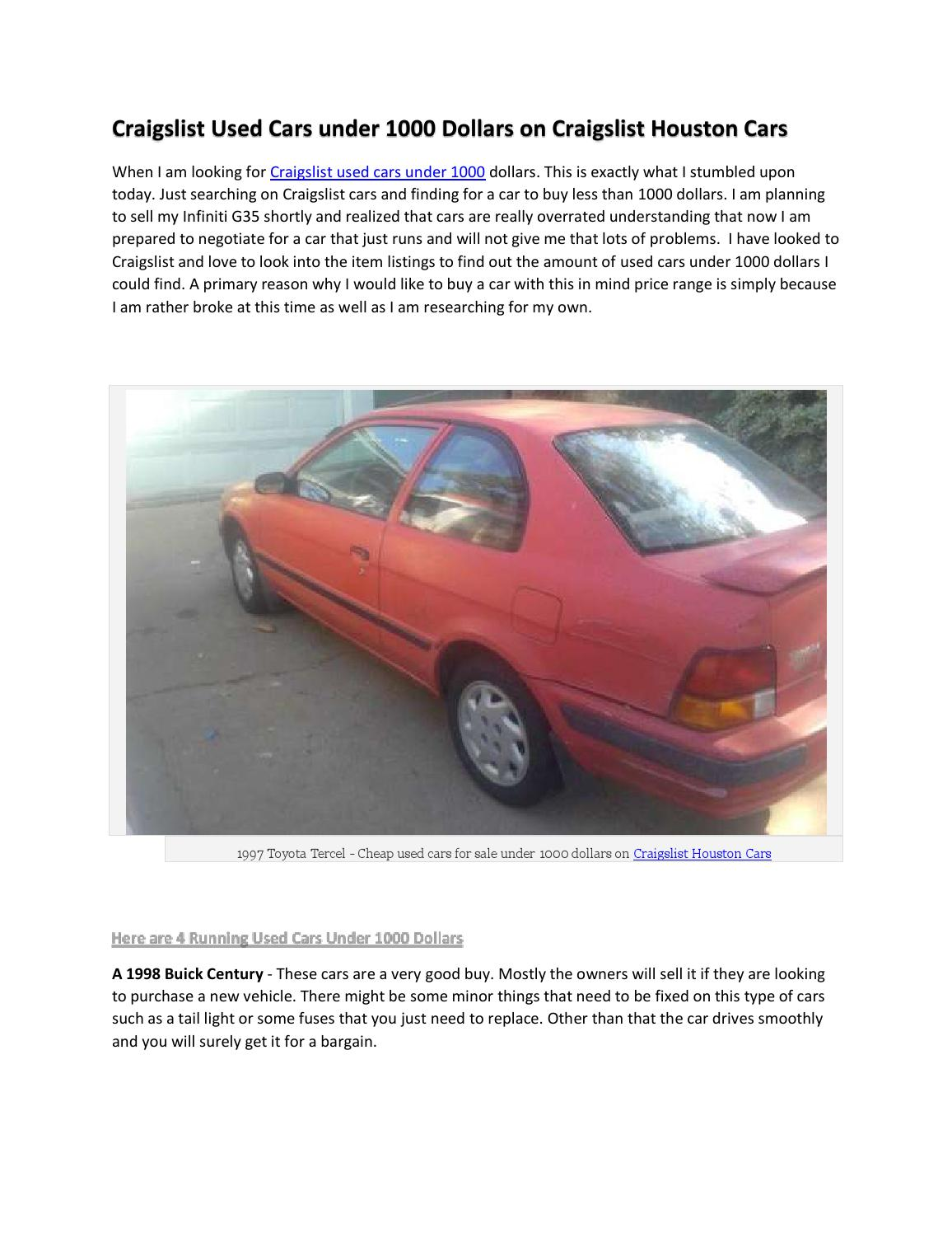 Craigslist Austin Texas Cars For Sale By Owner : craigslist, austin, texas, owner, Craigslist, Houston, Owner