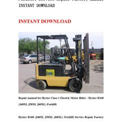 Hyster 60 Forklift Wiring Diagram Asco 962 B168 J40xl J50xl J60xl Service Repair