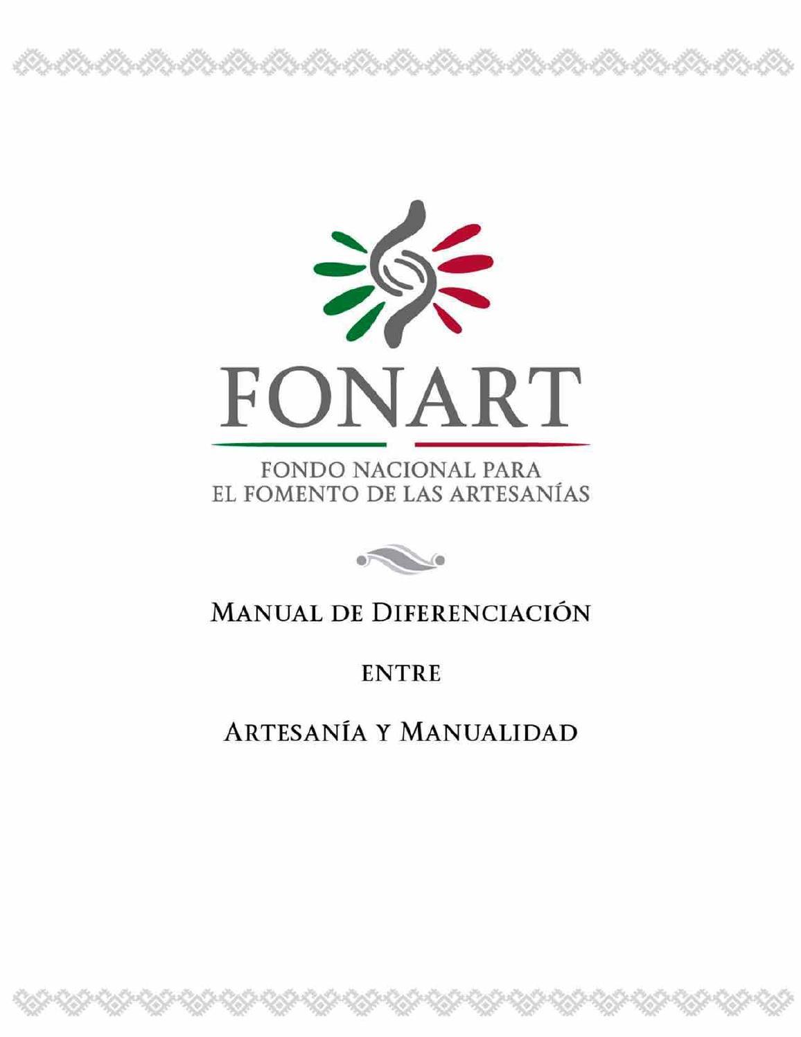 Manual de diferenciación entre artesanía y manualidad