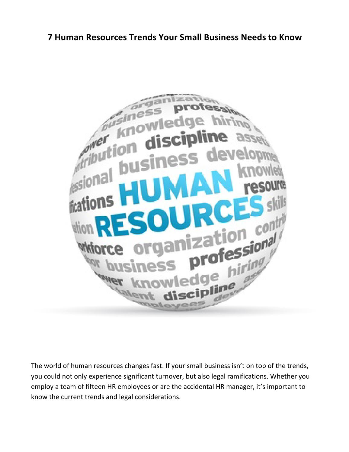 7 Human Resources Trends Your Small Business Needs to Know