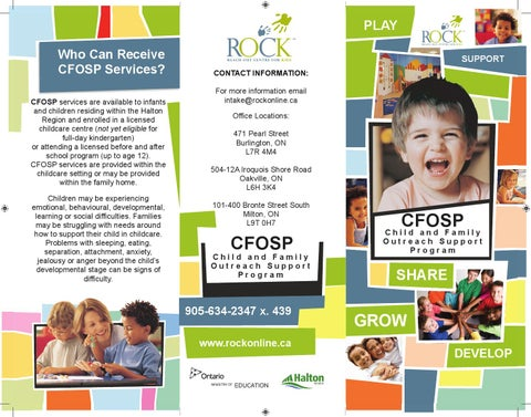 Child & Family Outreach Support Program Brochure By Reach