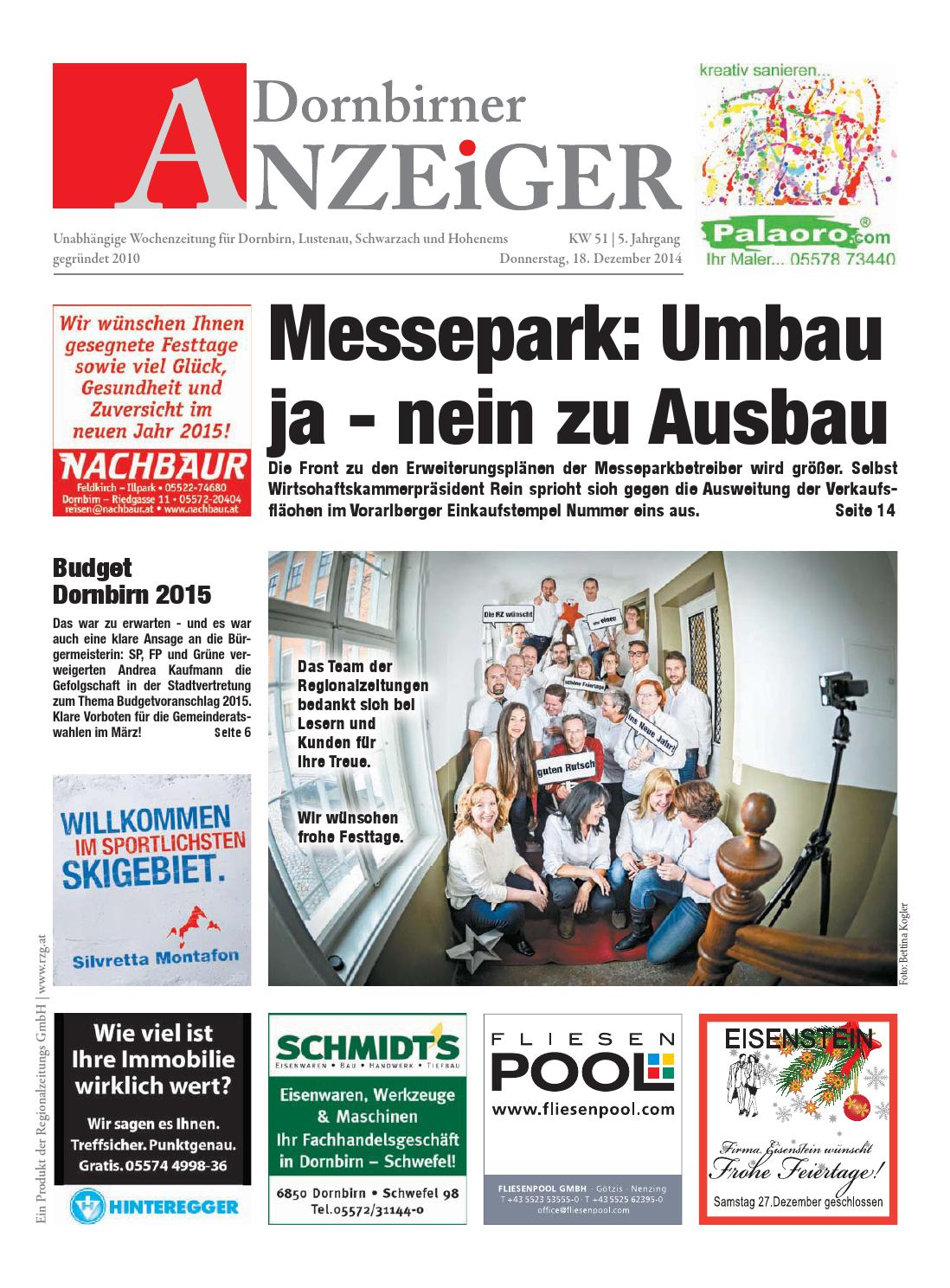 Dornbirner Anzeiger 51 By Regionalzeitungs Gmbh - Issuu