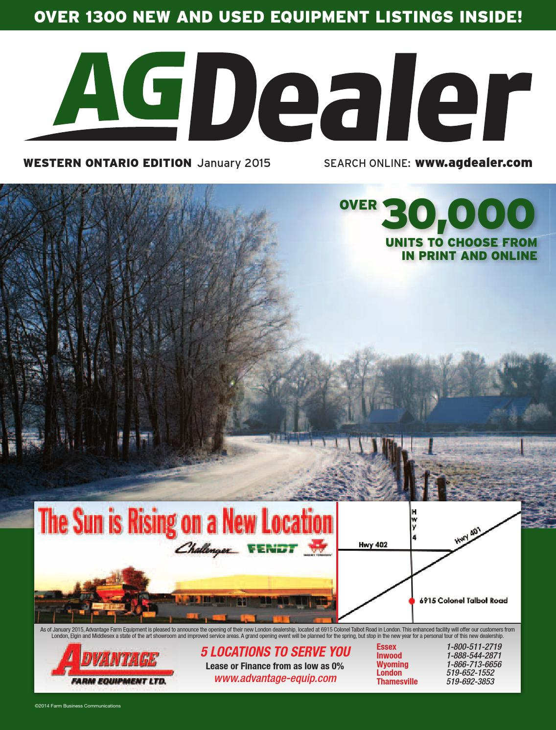 hight resolution of agdealer western ontario edition january 2015 by farm business communications issuu