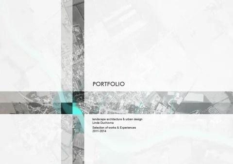Portfolio 2011 2014 landscape architecture  urban design by Linda Duchovna  Issuu