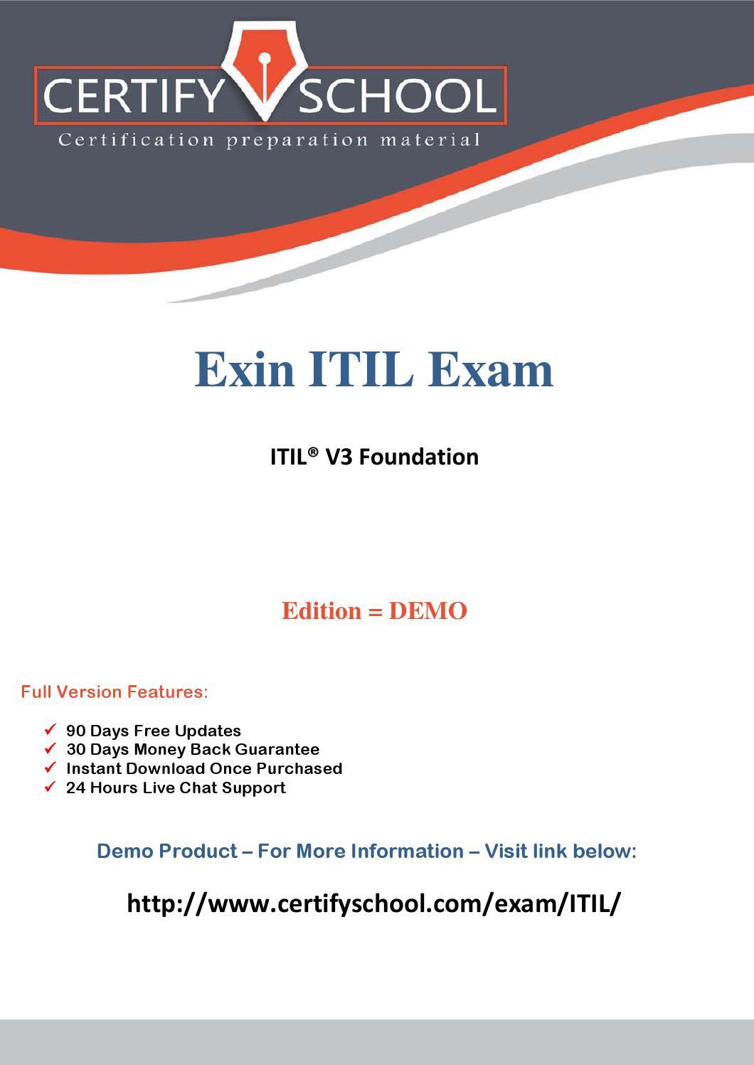 Itil V3 Foundation Exam Questions Pdf