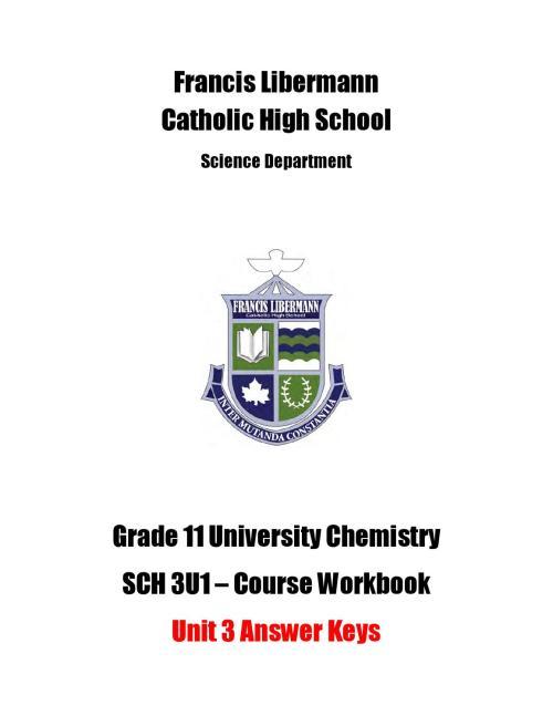 small resolution of SCH 3U Workbook Answer Key - Unit 3 by Michael Papadimitriou - issuu