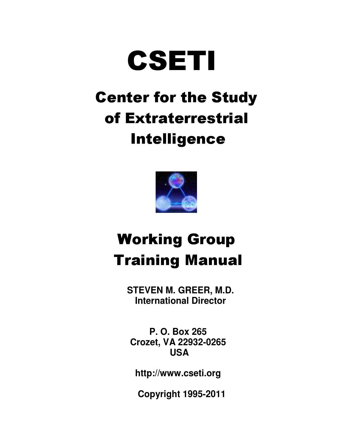 Steven greer ce5 cseti 02 working group manual how to form