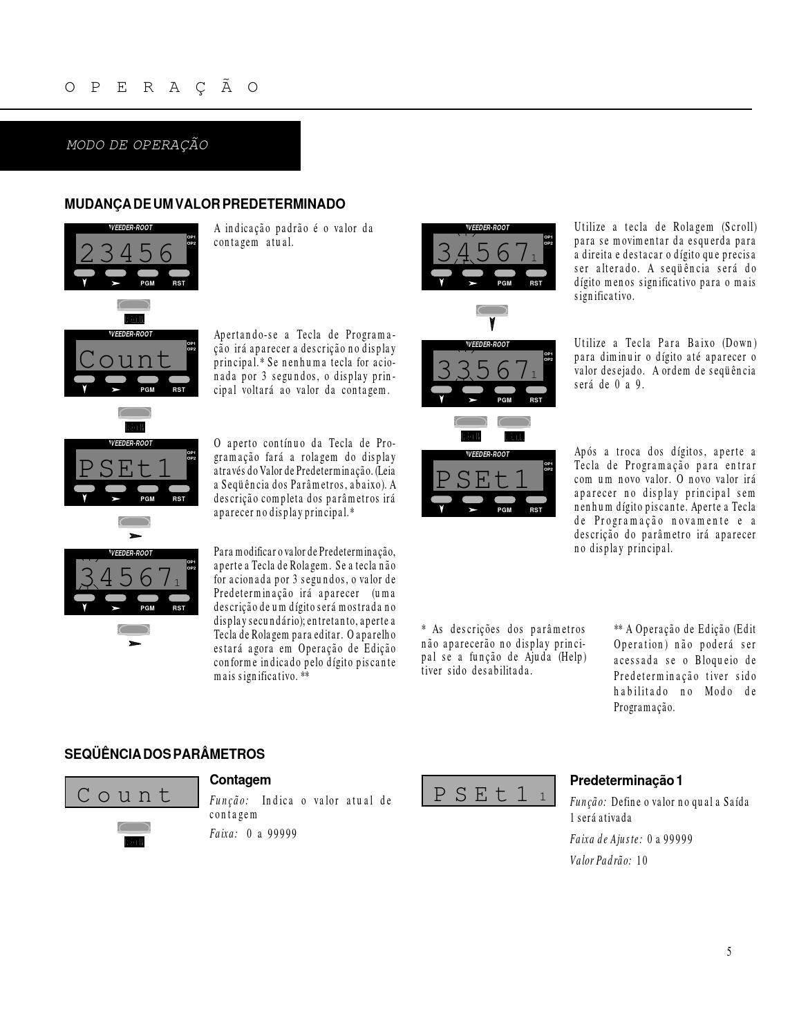 Contador c628 7 predeterminador manual portugues veeder