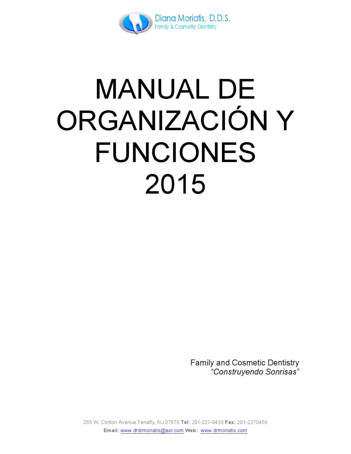 Manual de organizacion y funciones moriatis 2015 by
