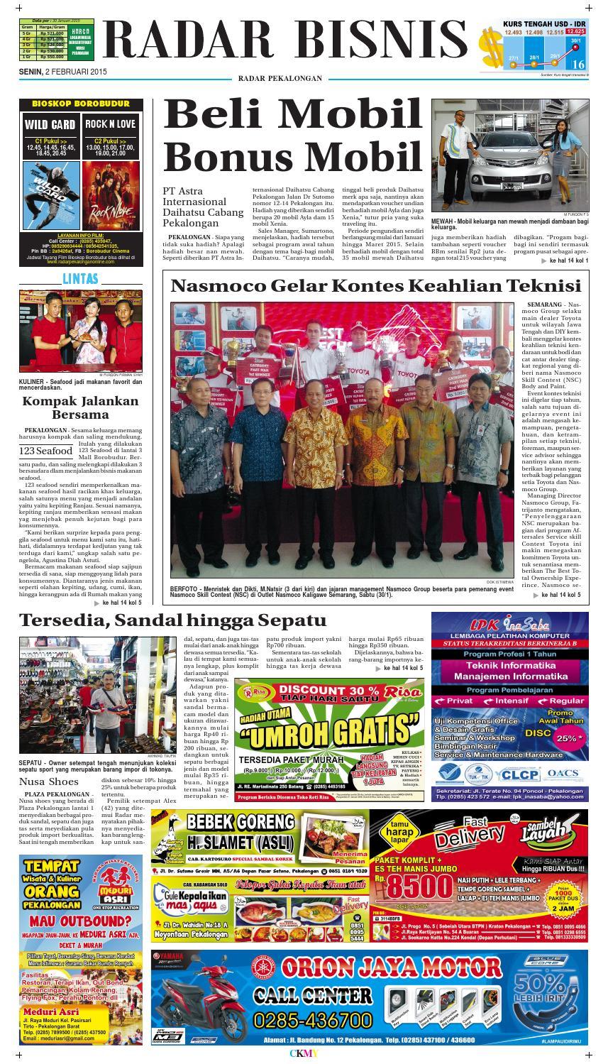 Jadwal Cinema Borobudur Pekalongan : jadwal, cinema, borobudur, pekalongan, Radar, Pekalongan, Februari, Issuu