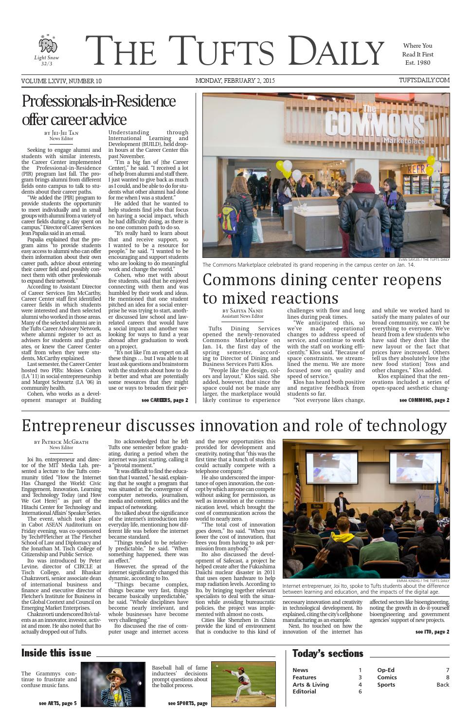 The Tufts Daily 02 02 15 by Tufts Daily  Issuu