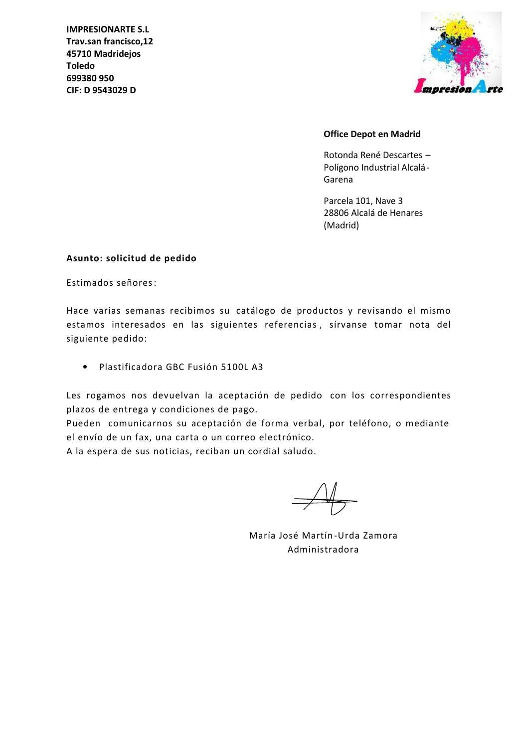 Carta proveedor plastificadora by startup09 Consaburum  Issuu